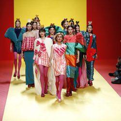 Desfile de Ágatha Ruíz de la Prada colección otoño/invierno 2018/2019 en la Madrid Fashion Week