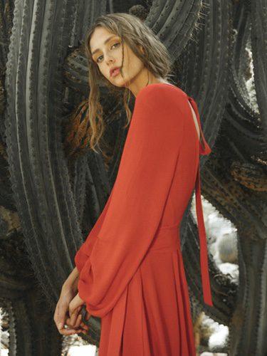 Vestido rojo  de Intropia de su temporada primavera/verano 2018