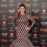 Pepa Charro con un look peculiar en la alfombra roja de los Premios Goya 2018