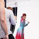 Chándal-falda multicolor de la colección Athleisure primavera/verano 2018 de Swarovski