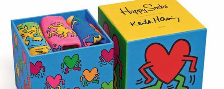 Cajas de regalo Happy Socks por Keith Haring