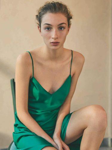 Camisón verde brillante de la colección de Oysho primavera/verano 2018