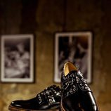 Mocasín negro con cordones de Clergerie hombre para la temporada FW18