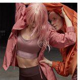 Conjunto nueva colección Primavera/Verano Oysho 2018 con una sudadera, top y maya rosa