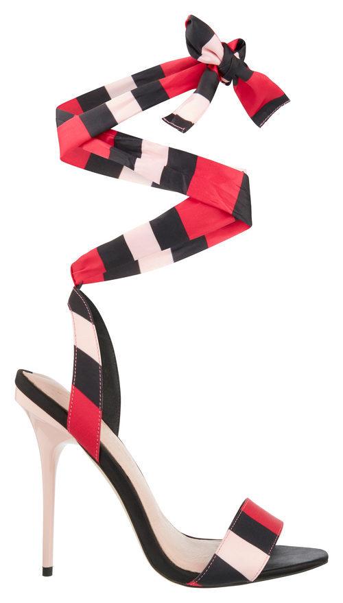 Sandalia tricolor de Asos para San Valentín 2018