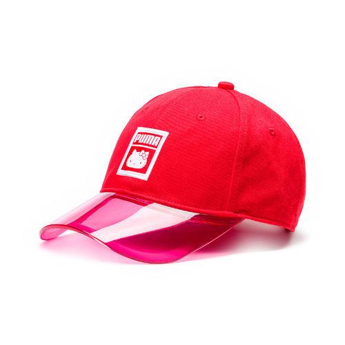 Gorra roja con visera de plástico de la colección Puma x Hello Kitty