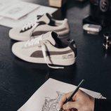 Boceto del nuevo modelo de zapatillas lanzado por Puma y Michael Lau 2018
