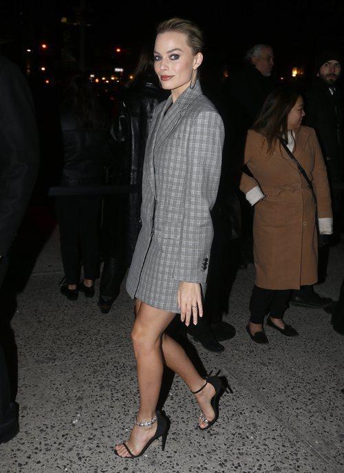 Margot Robbie en el desfile de Calvin Klein en New York 2018
