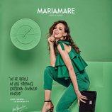 Eva González con unas sandalias negras de tacón para la colección de Mariamare primavera/verano 2018