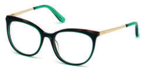 Gafas en forma de ojo de gato azules turquesa de la colección de Guess SS18