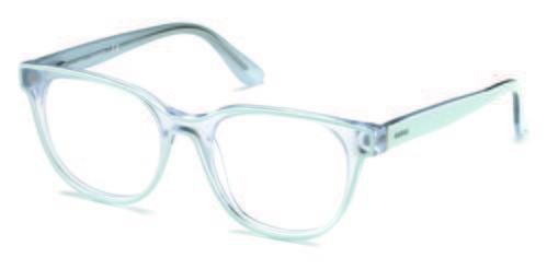 Gafas cuadradas transparentes de la colección de Guess SS18