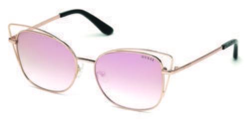Gafas de sol con forma de pantos rosas  de la colección de Guess SS18