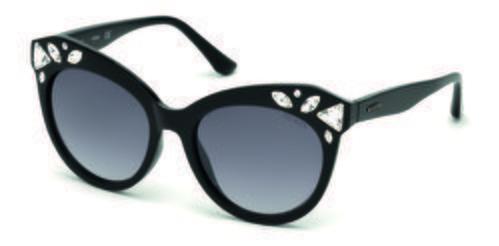 Gafas de sol negras con forma de ojo de gato y brillantes incrustados de la colección de Guess SS18