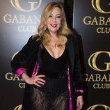 Ana Obregón en el cumpleaños de Julio José Iglesias con una falda transparente y body negro 2018