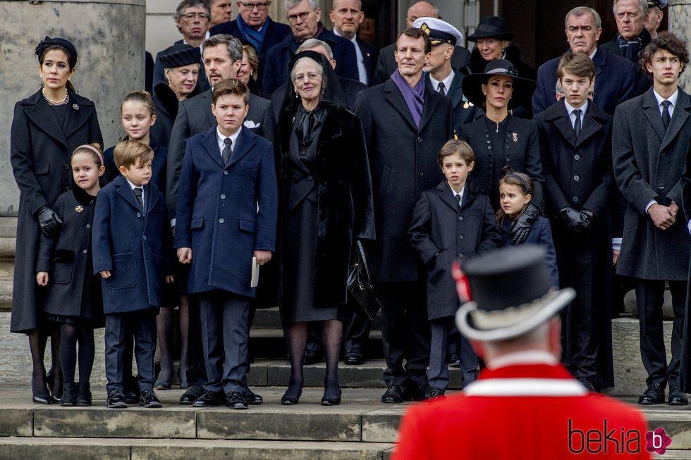Nicolás de Dinamarca en el funeral de su abuelo Enrique de Dinamarca 2018