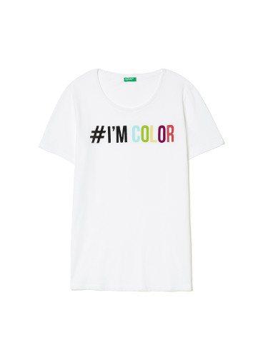 Camiseta con mensaje I'm color de United Colors Of Benetton de la colección para primavera/verano 2018