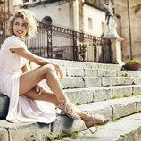 Elsa Pataky con sandalias de tacón de Gioseppo de la colección primavera/verano 2018