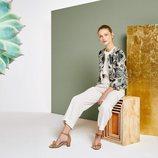 Pantalón ancho combinado con chaqueta de la colección primavera/verano 2018 de Trucco