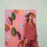 Pijama de dos piezas de tonalidad teja de la colección de Oysho Sleepwear primavera/verano 2018