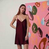 Camisón de satén rojo teja de la colección de Oysho Sleepwear primavera/verano 2018
