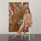 Pijama de dos piezas color teja de la colección de Oysho Sleepwear primavera/verano 2018