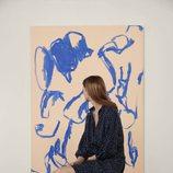 Camisón azul marino con motas blancas de la colección de Oysho Sleepwear primavera/verano 2018