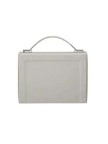 Bolso cuadrado de asa corta en color gris perla de la Nueva Colección de Cos 2018