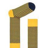 Calcetines amarillos con estampado de lineas de Happy Socks para la Nueva Colección de hombre 2018
