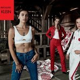 Paris Jackson, Millie Bobby Brown y Lulu Tenney con prendas de la colección de Calvin Klein #MYCALVINS para primavera 2018