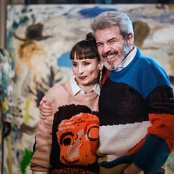 María Escoté con Lorenzo Caprile en la presentación de la marca Frescoté