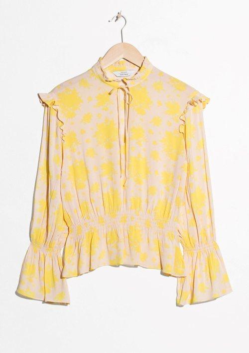 Blusa beige con estampado amarillo e la Nueva Colección Primavera/Verano 2018 de & Other Stories