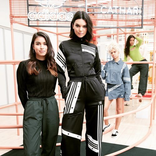 Kendal Jenner con Daniëlle Cathari en la presentación de la Nueva Colección Cápsula de Adidas 2018