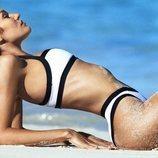 Bikini blanco con los bordes negros de la la nueva línea de bikinis TropicfC
