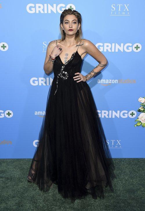 Paris Jackson con un vestido de estilo princesa de tul negro