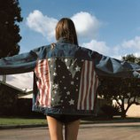 Cazadora vaquera con la bandera de EEUU de la Nueva Colección