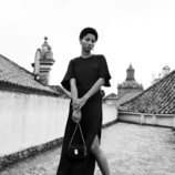 Vestido largo negro con abertura inferior de Spring Shades Mango para la primavera 2018