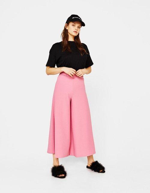 Pantalones palazzo rosas de Bershka para la primavera/verano 2018