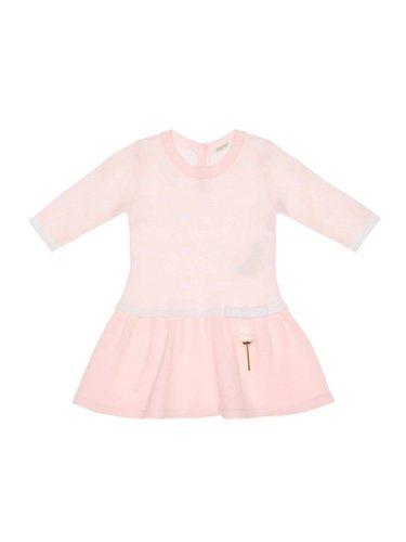 Vestido rosa para bebé de manga larga de la nueva colección de primavera de Benetton 2018