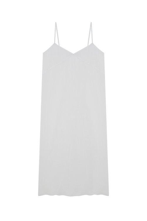 Vestido blanco de tirante fino de la nueva coleccion primavera/verano 2018 de Betolaza