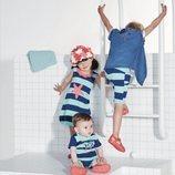 Conjuntos para todas las edades a rayas azul marino y azul celeste de Tuc Tuc primavera/verano 2018