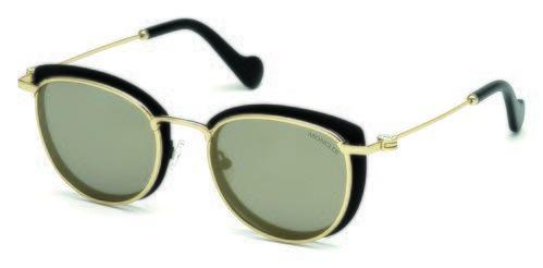 Gafas doradas y negras con el cristal claro de la nueva colección primavera/verano 2018 de Moncler
