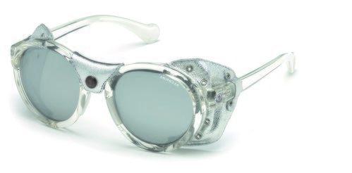 Gafas transparentes con un acabado plateado de la nueva colección primavera/verano 2018 de Moncler