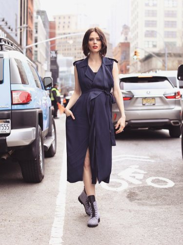 Coco Rocha vestida de Jason Wu en la New York Fashion Week