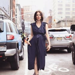 Coco Rocha vestida de Jason Wu en la New York Fashion Week