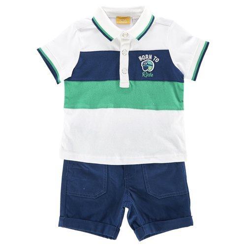Conjunto polo y pantalón corto de niño bebé de la nueva colección primavera/verano 2018 de Chicco