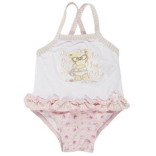 Bañador de bebé niña en color blanco y rosa pastel de la nueva colección primavera/verano 2018 de Chicco