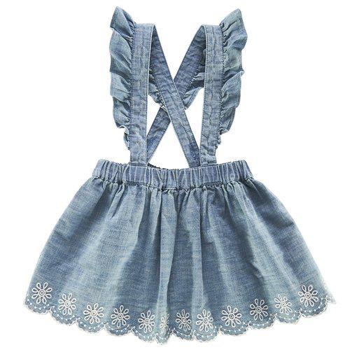 Pichi denim de bebe niña de la nueva colección primavera/verano 2018 de Chicco