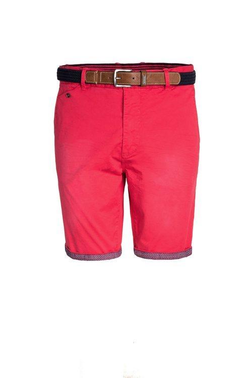 Short rojo con un cinturón marrón de Salsa para la primavera 2018