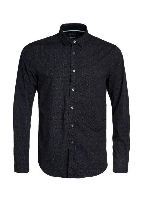 Camisa negra con estampados geométricos de Salsa para la primavera 2018