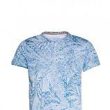 Camisa azul con estampados de plantas de Salsa para la primavera 2018